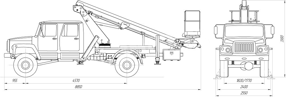 PT 19.9 ГАЗ 33081 (двухрядная кабина)