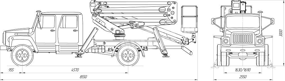 PT 230 ГАЗ 3309 (двухрядная кабина)