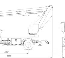 АГП P180T JAC 56 корзина над кабиной
